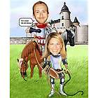 Camelot Personalized Caricature Print