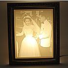 Personalized Lithophane Wedding Photo Light