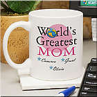 World's Greatest Mom Personalized Mug
