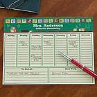 Teacher's Little Learners Personalized Desk Pad Planner