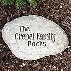 Engraved My Family Rocks Large Garden Stone
