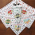 Six Holidays Personalized Dog Bandana Set