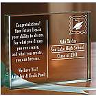 Personalized Graduation Postcard Glass Block