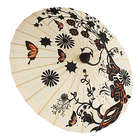 Butterfly Garden Hand Painted Paper Parasol