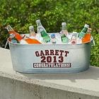 Personalized Galvanized Graduation Tub