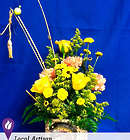 Fishing Rod and Reels Bright Floral Bouquet