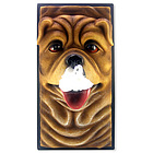 Bull Dog Tissue Box Cover