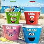 Personalized Big Face Sesame Street Tin Easter Pail