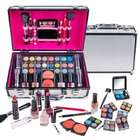 Shany Carry All Makeup Silver Train Case with Pro Makeup