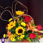 Sunny Basket of Blooms Bouquet