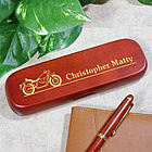 Engraved Motorcycle Rosewood Pen Set