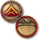 Engravable Marine Corps Keepsake Coin by Rank