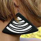 Samba Swing Recycled Vinyl Record Earrings