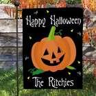 Happy Halloween Pumpkin Garden Flag