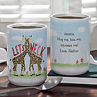 Let's Neck Giraffes Personalized Romantic Coffee Mug