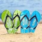 Personalized Destination Vacation Flip Flops