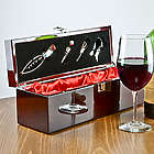 Personalized Rosewood Wine Accessory Gift Set