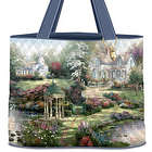 Thomas Kinkade Classics Quilted Tote Bag with Lantern Charm