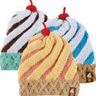 Swirly Ice Cream Cone Beanie