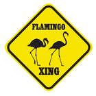 Crossing Flamingo Sign