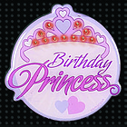 Birthday Princess Flashing Button