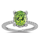 0.56 Ct Diamond & 2.50 Ct Peridot Ring in 14K Gold