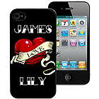 Personalized Tattoo Heart iPhone 4 and 4S Case
