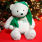 My First Christmas Bear in Green and White