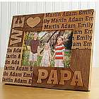 Personalized I or We Heart Wood Frame