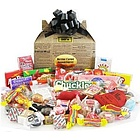Old Fashioned Newsprint Retro Candy Gift Box