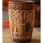 'Maya King of Tikal' Ceramic Vase