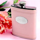 Pink Leather Style Flask