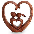 Story of Love Wood Sculpture