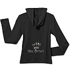 Personalized Rhinestone Hoodie with Crown