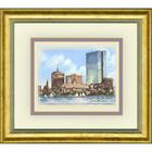Framed Color Print of Boston