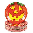 Jack-O-Lantern Dessert Plates
