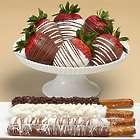 4 Caramel Pretzels & Half Dozen Swizzled Strawberries Gift Box