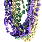 "48"" Assorted Mardi Gras Necklaces"