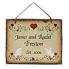 Personalized Slate Wedding Plaque