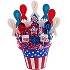 Support the Red, White, & Blue Lollipop Bouquet
