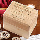 Recipe for Love Wood Recipe Box