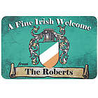 Personalized Fine Irish Welcome Doormat