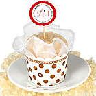 Chic Polka Dot Rhinestones Organza Cupcake Cup Bath Salts