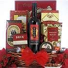 Festive Holidays Gourmet Christmas Wine Gift Basket