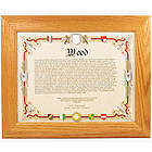 Meaning of Last Name Framed Genealogy Print