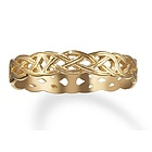Celtic Knot Commitment Ring in 14k Gold