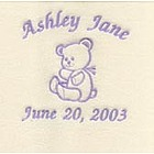 Embroidered Personalized Teddy Bear Baby Blanket