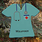 Personalized Ceramic Nurse Ornament