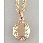 Engravable Small Gold Photo Locket