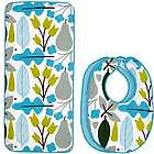 Robin Motif 3 Piece Bib & Burp Cloth Set
